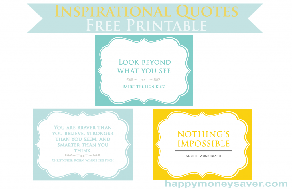 Inspirational quotes to give to someone you care about and make their day. (free printable included) #happythoughts