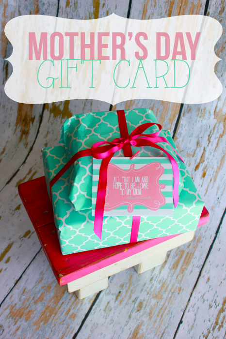 Mother's day gift card just something to let your mother know how much she means. (#happythoughts)