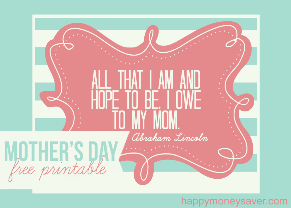 Mother's day card to let your mother know how much she means. (#happythoughts)