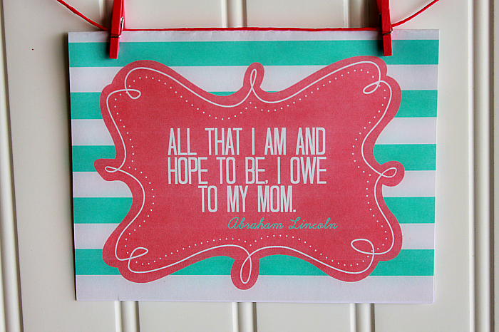 Mother's day free printable to remind the mothers in our lives how much they mean to us . (#happythoughts)