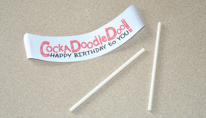 Use this free Cockadoodledoo birthday banner for your loved ones on their special day! #happythoughts #cockadoodledoo #happybirthdaytoyou