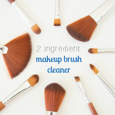 Super simple makeup brush cleaner. Never use nasty bacteria laden brushes again! Seriously takes 2 seconds.