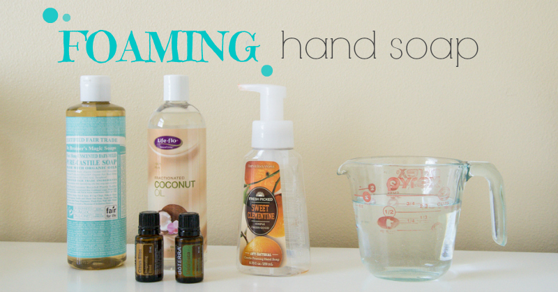 It's so easy to make your own foaming hand soap. This recipe is even moisturizing. 75% cheaper than the toxic ones at the store!