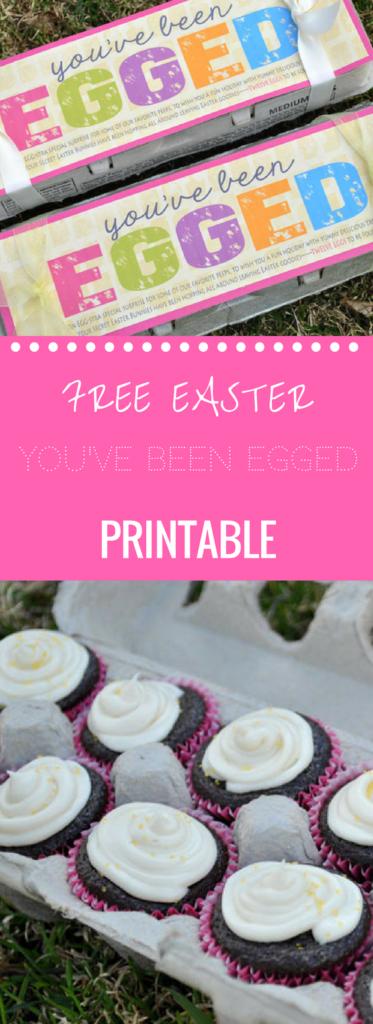 You've Been Egged Free Printable Egg Carton Gift