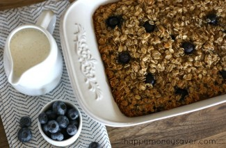 The Perfect Breakfast {Baked Blueberry Oatmeal}