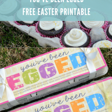 """You've Been Egged"" Easter Glow Hunt + Free Printable"