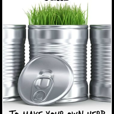 Thrifty Tip: Make your own Recycled Can Planter