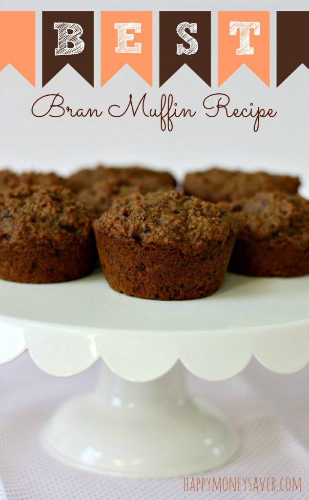 The BEST Bran Muffin Recipe even kids will eat and it's freezer friendly to make up large batches at a time!