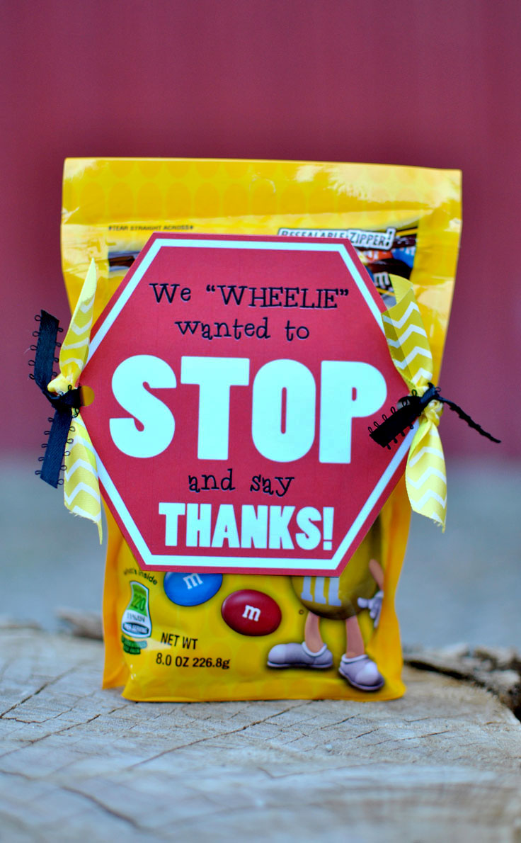 Quot Stop And Say Thanks Quot Bus Driver Gift Idea Free Printable