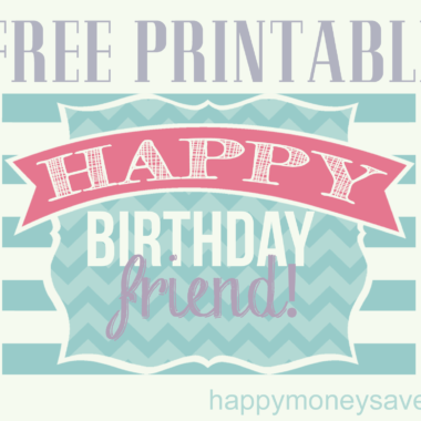 The Perfect Happy Birthday Friend Printable