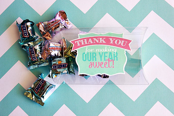 Teacher Appreciation free printable-Thank you for making our year sweet! #happymoneysaver #happythoughts