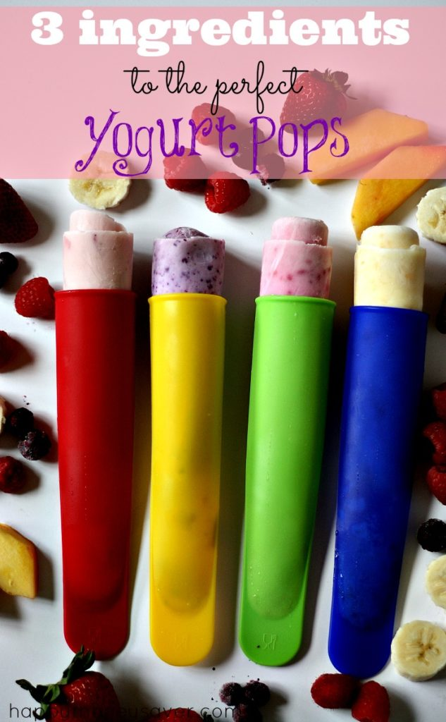 These easy frozen yogurt pops are the perfect summer treat! #summer # ...