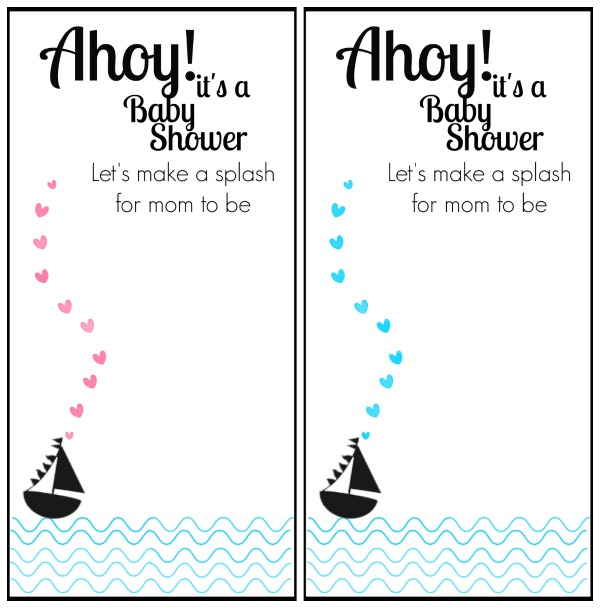 free printable nautical themed baby shower invitation happy money