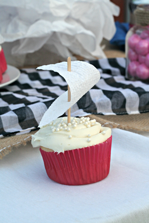 Sailboat Cupcakes for a Nautical Baby Shower or Party