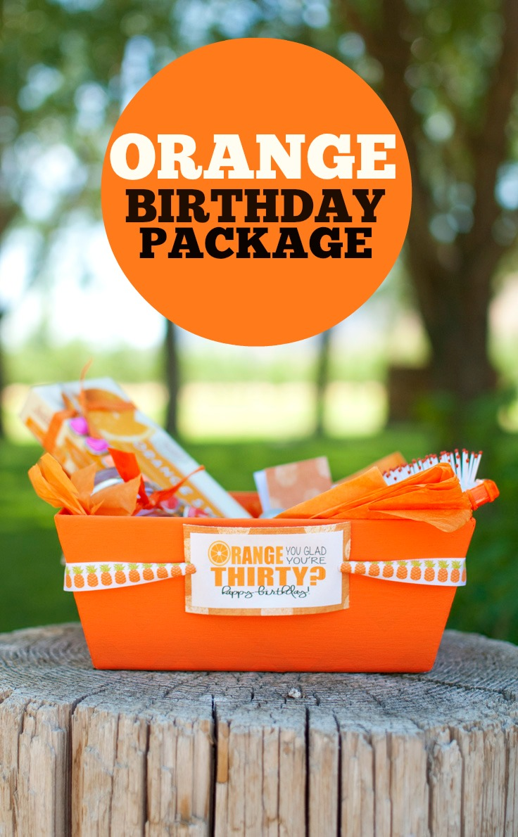 Use this Orange Birthday Package for one of your friends! #happythoughts #happybirthday #orange