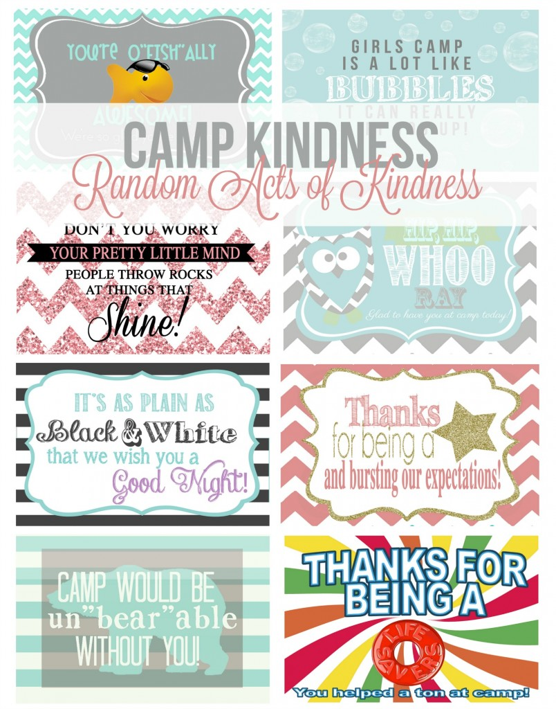 Free Girls Camp Printables!