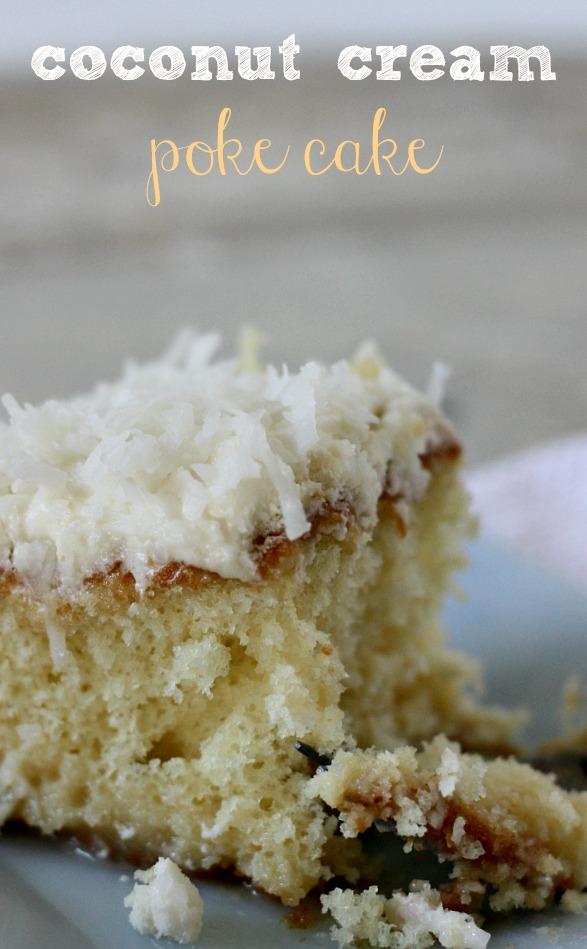 Coconut Milk Poke Cake