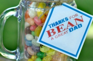 FATHER'S DAY BEANS Gift Idea with Free Printable