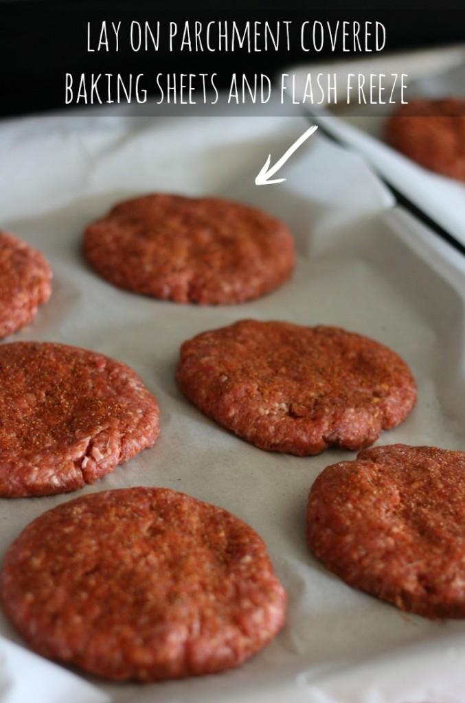 Make Ahead Hamburger Patties {Freezer Friendly}