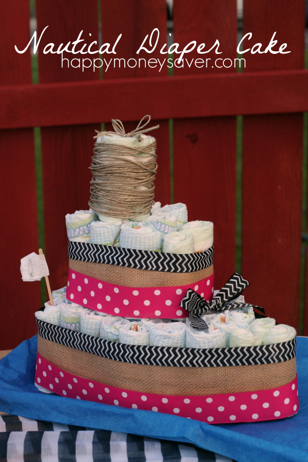 Nautical Diaper Cake created for a Nautical Baby Shower