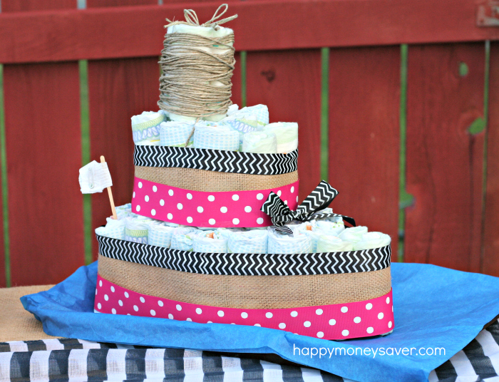 Sailboat Diaper Cake for a Nautical Baby Shower