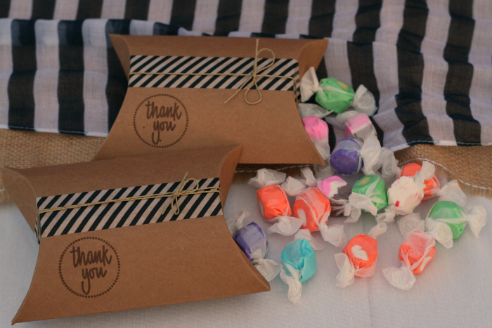 Nautical Themed Baby Shower Favors - Salt Water Taffy!