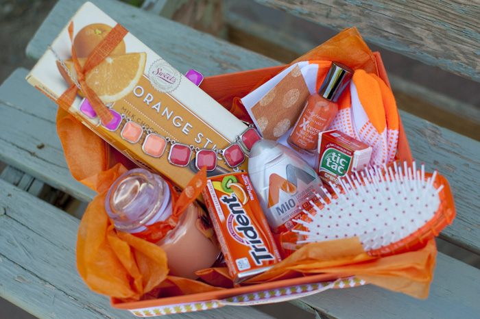 These are some goodies I used for this Orange Birthday Basket. #happythoughts #happybirthday #orange