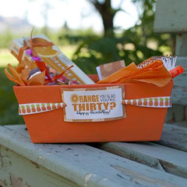 Orange Birthday Package + Free Printables