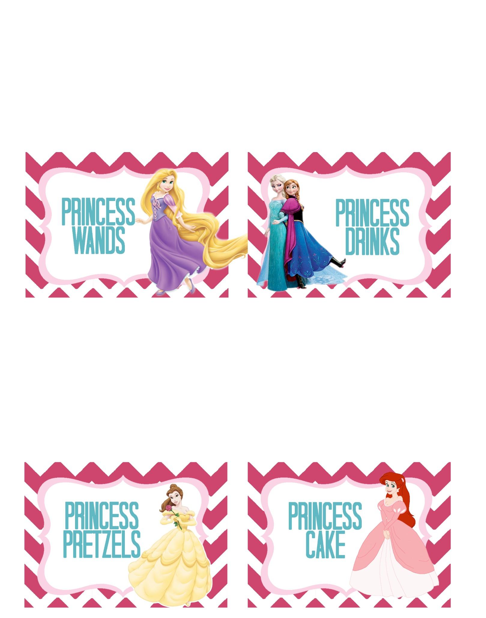 image relating to Disney Princess Cupcake Toppers Free Printable known as Princess Social gathering-Cost-free Printable
