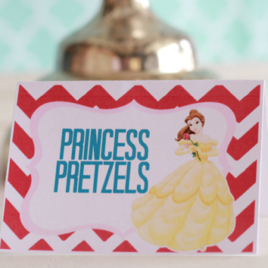 Free Princess Birthday Party Theme printables