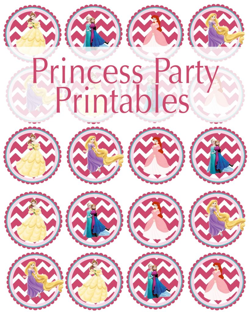 Create the perfect princess with these free princess party printables. (#happythoughts) (#happymoneysaver.com)