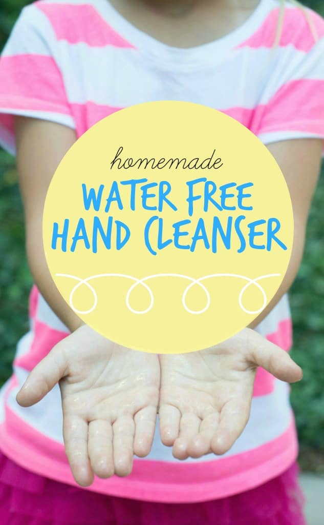 Simple. Pure. Cost effective. Make your own homemade water free hand cleanser with 4 easy ingredients!
