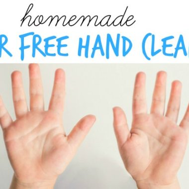 Keep those hands clean! Homemade Water Free Hand Cleanser