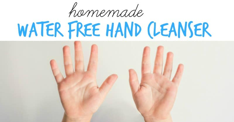 It's so simple and cheap to make your own! 4 ingredients - homemade water free hand cleanser is where it's at!