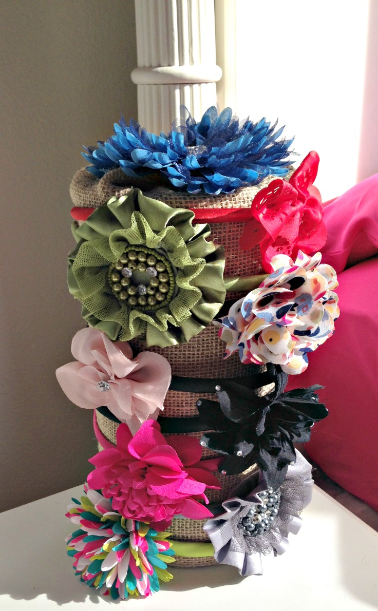 It is so easy to make this headband holder!