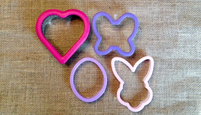 Cookie cutters add variety to school lunches.