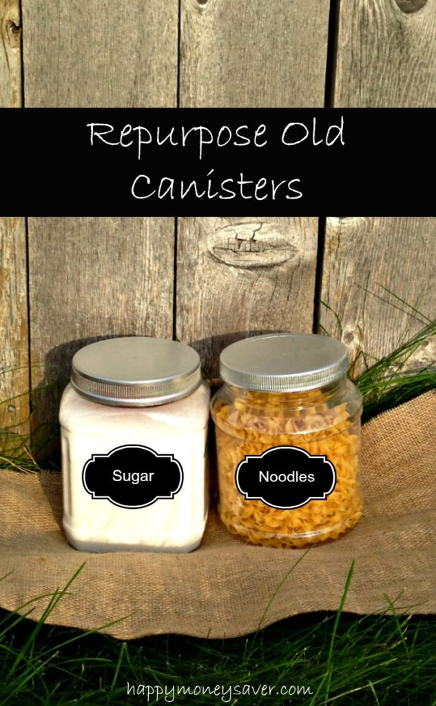 Revamp your pantry when you repurpose old containers for storage. You only need a couple items that you already have at home!