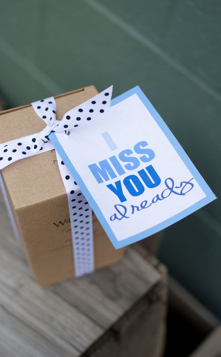I Miss You Already is a beautiful sentimental movign away gift idea to give your loved ones to remember you by. #happythoughts #imissyoualready