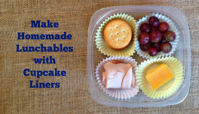 Make your own lunchables with cupcake liners