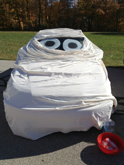 13 mummy from craft - Halloween Trunk Or Treat Decorating Ideas