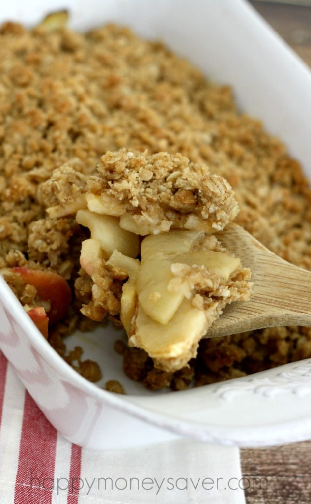Freezer Friendly Apple Crisp- The perfect fall dessert!