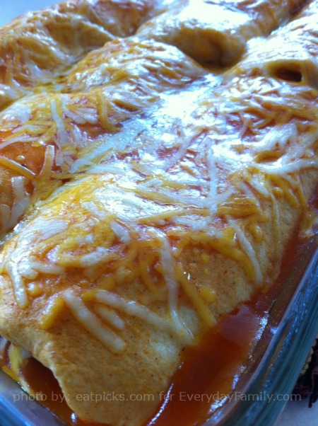 Freezer lunch - chicken enchiladas