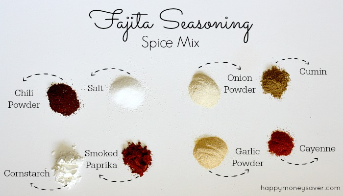 Fajita Spice Mix made so easily with simple ingredients in your cupboard!