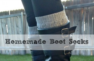Reuse Old Sweaters to Make Homemade Boot Socks