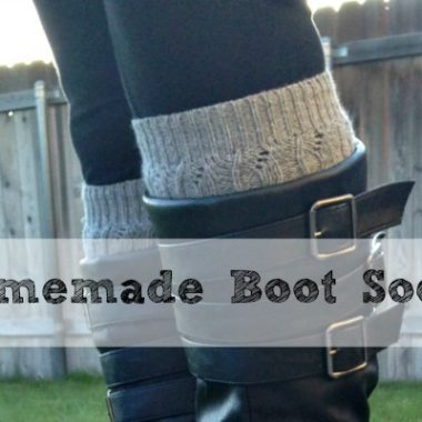 homemade boot socks