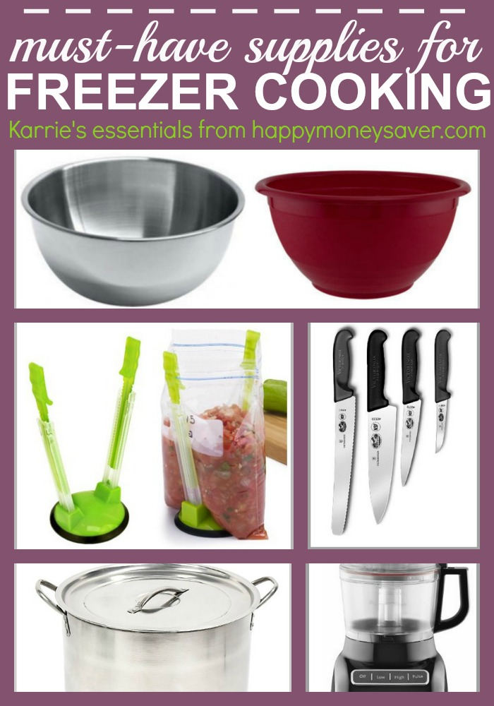 A big post about all of my favorite must have freezer meal supplies. The biggest bowls, the best knives, and even really fun helpful gadgets. I love freezer meal cooking and this helpful post shows me all the supplies I will need to buy. Awesome!