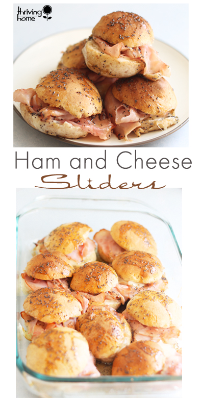 Ham & Cheese Sliders - make ahead and freeze lunch idea