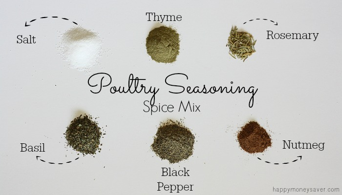Poultry Seasoning Spice Mix made easily with ingredients in your cupboard!
