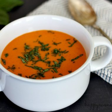 Enjoy the fresh taste of tomato soup in the dead of winter with this freezer friendly Garden Fresh Tomato Soup Recipe.