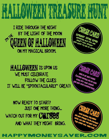 Use these free printables to help you celebrate with this Halloween Treasure Hunt! #halloween #treasurehunt